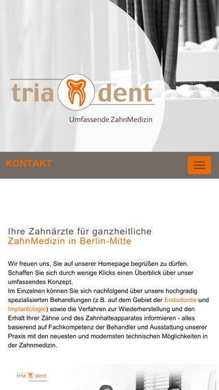 Mobile preview of triadent-mitte.de