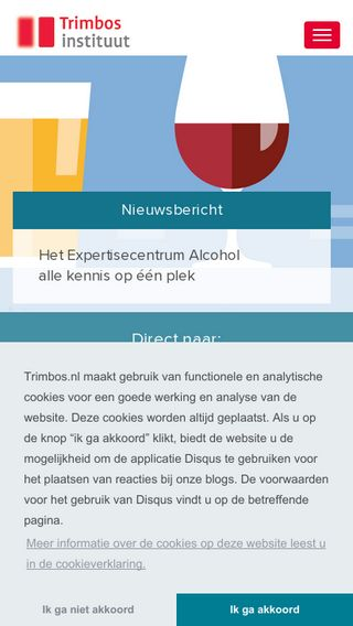 Mobile preview of trimbos.nl