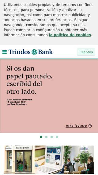 Mobile preview of triodos.es