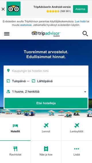 Mobile preview of tripadvisor.fi