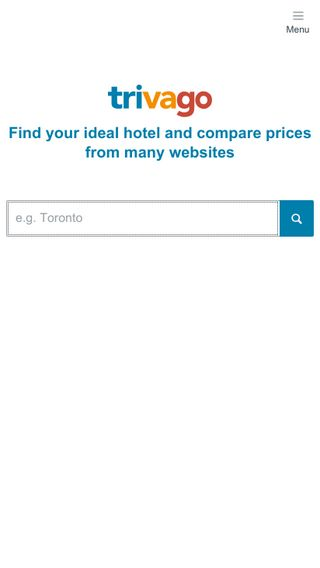 Mobile preview of trivago.ca