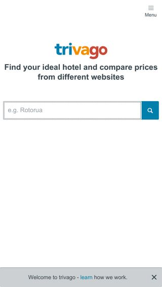 Mobile preview of trivago.co.nz