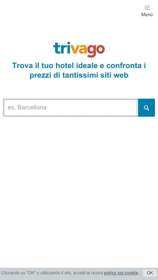 Mobile preview of trivago.it