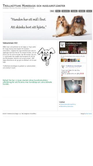 Mobile preview of trollhattanshunddagis.n.nu