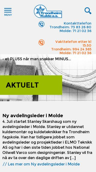 Mobile preview of trondheimkulde.no