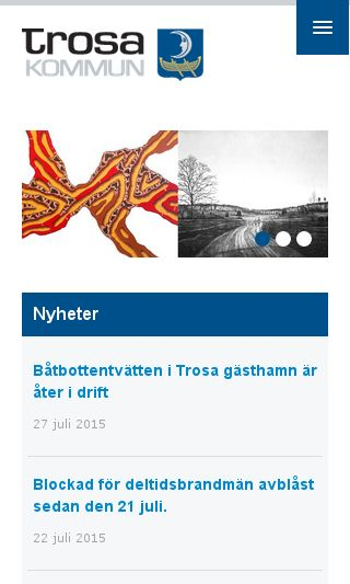Mobile preview of trosa.se