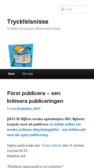 Mobile preview of tryckfelsnisse.se