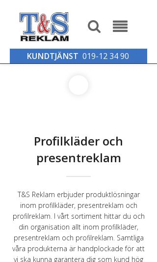 Mobile preview of tsreklam.se