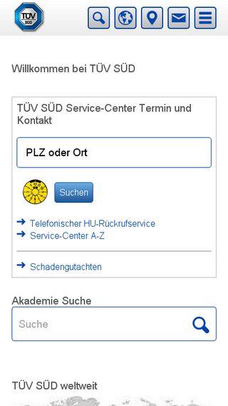 Mobile preview of tuev-sued.de