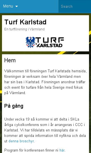 Mobile preview of turfkarlstad.se