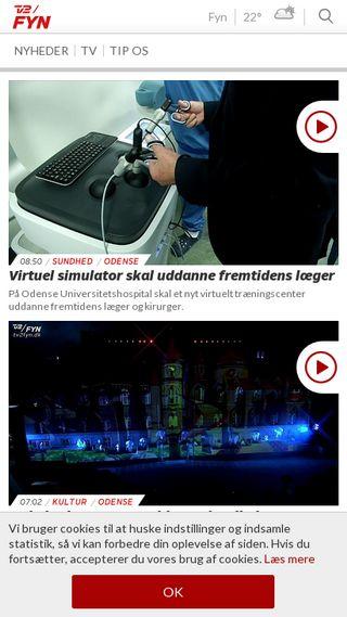 Mobile preview of tv2fyn.dk