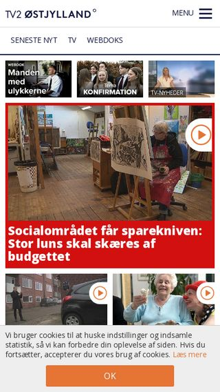 Mobile preview of tv2ostjylland.dk