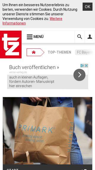 Mobile preview of tz.de
