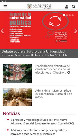 Mobile preview of ucm.es