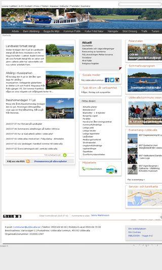 Mobile preview of uddevalla.se
