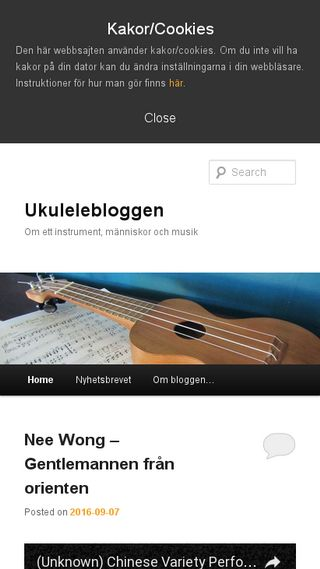 Mobile preview of ukulelebloggen.se