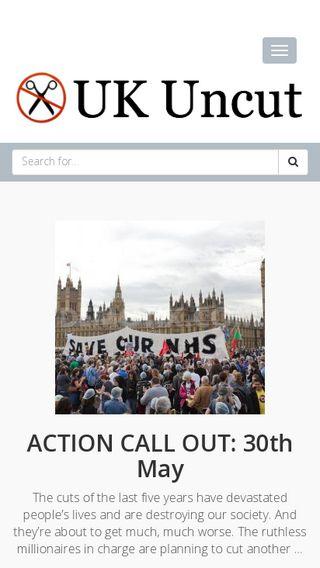Mobile preview of ukuncut.org.uk