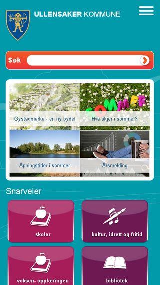 Mobile preview of ullensaker.kommune.no