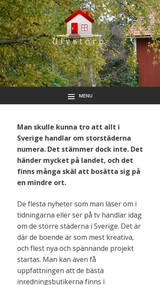 Mobile preview of ulvstorp.se