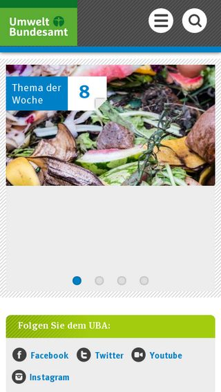 Mobile preview of umweltbundesamt.de