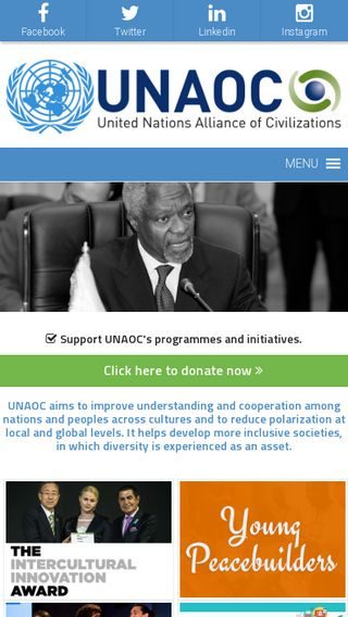 Mobile preview of unaoc.org