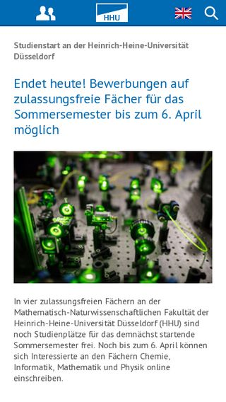 Mobile preview of uni-duesseldorf.de