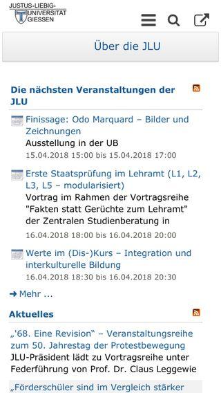 Mobile preview of uni-giessen.de