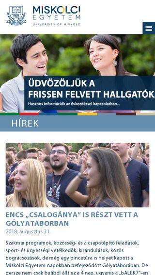 Mobile preview of uni-miskolc.hu