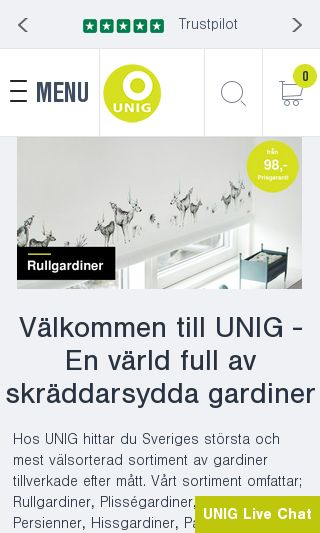 Mobile preview of uniggardin.se
