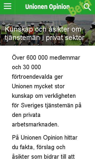 Mobile preview of unionenopinion.se