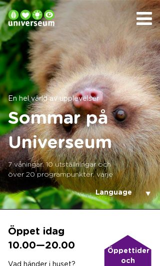 Mobile preview of universeum.se