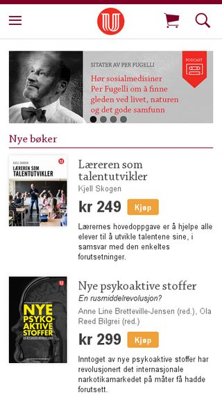 Mobile preview of universitetsforlaget.no