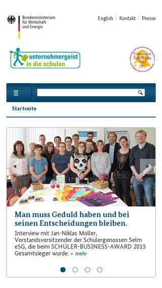 Mobile preview of unternehmergeist-macht-schule.de