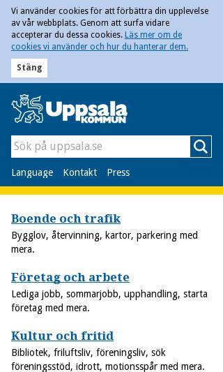 Mobile preview of mediedagenuppsala.se