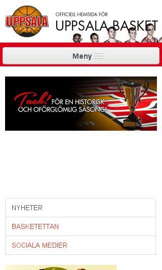 Mobile preview of uppsalabasket.se