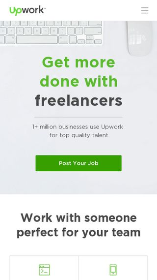 Mobile preview of upwork.com