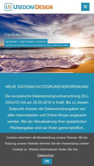 Mobile preview of usedom-design.de