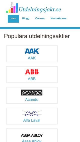 Mobile preview of utdelningsjakt.se