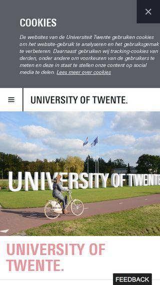 Mobile preview of utwente.nl