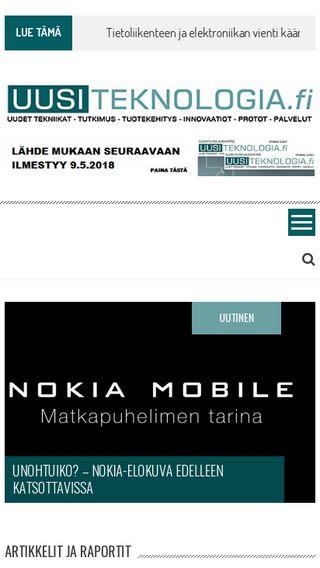 Mobile preview of uusiteknologia.fi