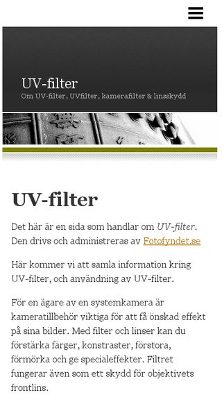 Mobile preview of uvfilter.n.nu