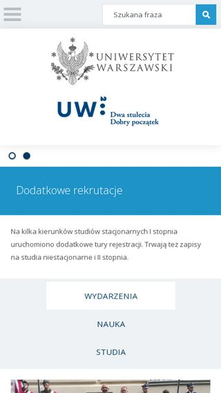 Mobile preview of uw.edu.pl