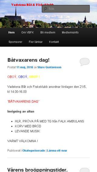 Mobile preview of vadstenabatklubb.se