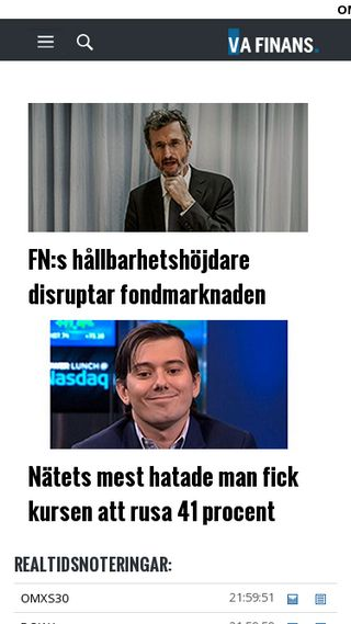 Mobile preview of vafinans.se