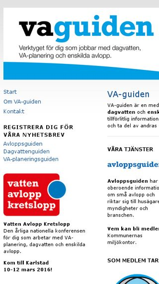 Mobile preview of vaguiden.se