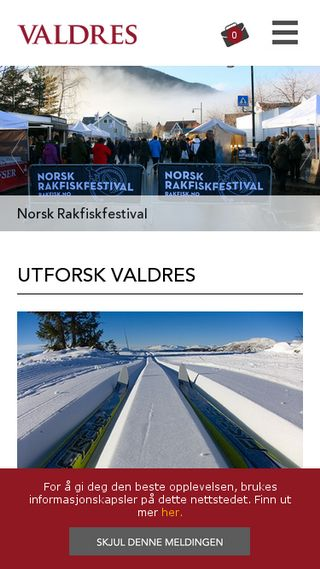 Mobile preview of valdres.no