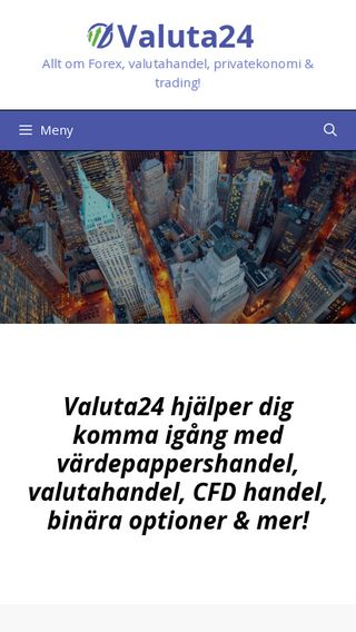 Mobile preview of valuta24.se