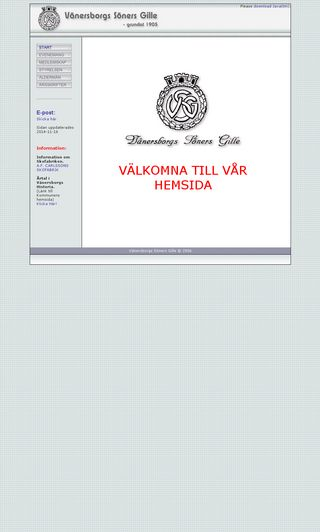 Mobile preview of vanersborgssonersgille.se
