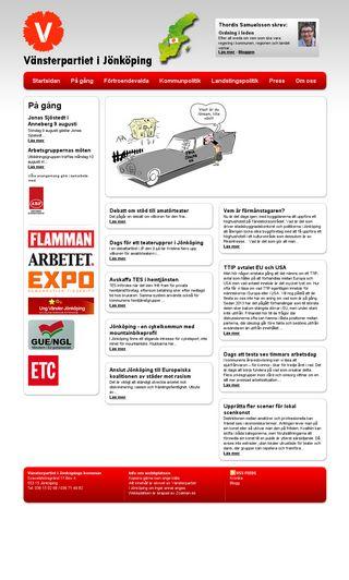 Mobile preview of vansterpartietjonkoping.se