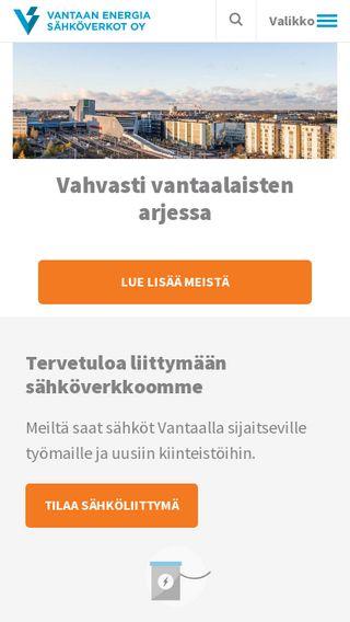 Mobile preview of vantaanenergiasahkoverkot.fi